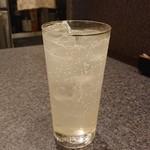 チャコル - レモンサワー ¥580イイけどハヤシライスには(笑)