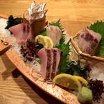 魚武 - 瀬戸内新鮮魚 五点盛り合わせ