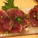 貫田川 - 和牛のたたき780円税別