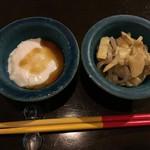 107458952 - ジーマミー豆腐,スンシーと蒲鉾の炒め物