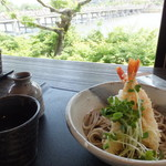 嵐山よしむら - 海老天冷やし蕎麦