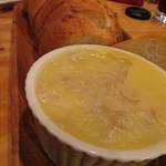 キッチンスズヤ - バケットと白身魚のリエット