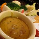 キッチンスズヤ - バーニャカウダーと有機野菜