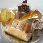 菓子工房 モン・パリ - 母恋し・トランシュオショコラ・チーズケーキ・げんこつパイチョコ・サバイヨン