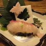 居酒屋 ちょーちょ - 刺身を寿司にしてくれました♪