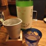 107470056 - 萩の鶴 冷酒 一合 750円