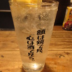 居酒屋 ちょーちょ - 瀬戸田レモンのレモンサワー 390円