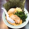 横浜家系ラーメン 魂心家 - 料理写真:味噌ラーメン キズ玉 ほうれん草増量の麺かため