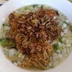 Kantonryouriajisaikan - ひき肉焼きラーメン(塩味)のアップ