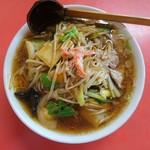 珍満茶楼 - 広東麺(うま煮そば)大盛り  990円