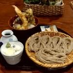 107479418 - 【2019.5.11(土)】Aセット(ざるそば+野菜天丼エビ付き)1,250円