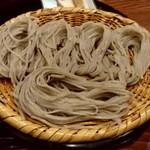 107479420 - 【2019.5.11(土)】Aセット(ざるそば+野菜天丼エビ付き)1,250円の麺