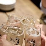 餃子とスパークリング バブルス - 二次会の乾杯〜♪