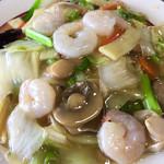 中国料理 四季香 - 「海老あんかけ焼そば」アップ
