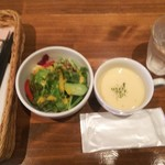 107490404 - サラダ、コーンスープ♪