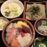 割烹食堂 中越 - 料理写真:海鮮丼セット  1280円+税