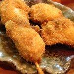 焼酎道楽 甑 - 牡蠣の串カツ