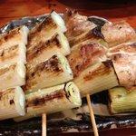 焼酎道楽 甑 - ネギ、ネギマ串焼き