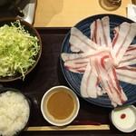 もち豚しゃぶしゃぶ - イベリコ豚しゃぶしゃぶ(1,300円)