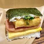 107500883 - 島豆腐の厚揚げのポークたまごおにぎり440円