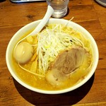 Kashou - 味噌ラーメン800円+クーポン煮玉子