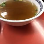 大観亭 - 付いてくるスープ
