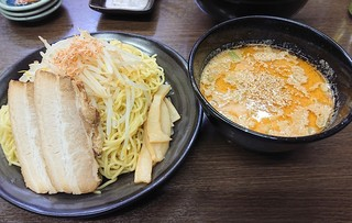 ラーメンTORA - 2019年5月 エビ味噌つけ麺大盛り(1100円)