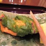 加賀屋 - 鱒新緑焼き 酢茗荷