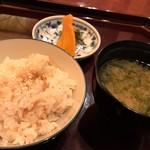 加賀屋 - 新生姜飯 香の物 あおさの味噌汁
