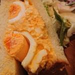107518330 - 奥久慈卵のたまごサンド  アップ