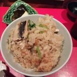 賛否両論 - 新生姜と穴子の炊き込み御飯