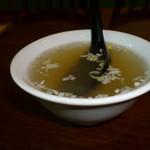 楽山担担面 - スープ