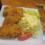 海鮮居酒屋山水 - 牡蠣フライ3個バージョン
