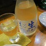 海鮮居酒屋山水 - 定番の男山生酒