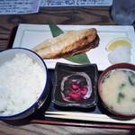 海鮮居酒屋 魚竹水産  - 鯖の塩焼き定食 700円(税別)(2019年5月6日撮影)