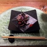 鉄板焼 天 青山庵 - タコと海老の鉄板焼