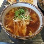 竹國 武蔵野うどん - 温汁のつけめんタイプの「肉汁」