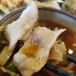 竹國 武蔵野うどん - 「肉汁」の豚バラ