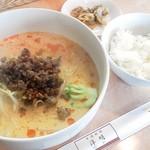 10754645 - ランチ坦々麺(胡麻味)ライス付き¥720杏仁豆腐も付いています。