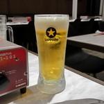 京橋 ビーフスタイル あか里 - 生ビール