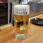 やきとり 正や - 生ビール