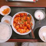 107544582 - 海老入り麻婆豆腐ランチセット