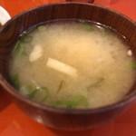 ンケリコ - お豆腐とわかめえのきのお味噌汁