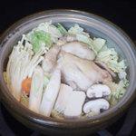 野崎肉店食事処 - サムゲタンの鍋仕立て¥2.200