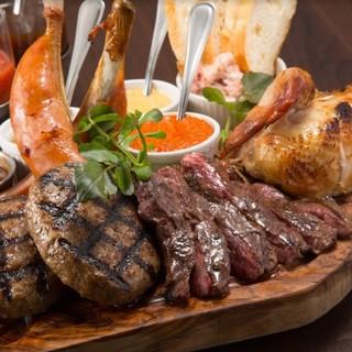 【肉♪肉♪肉♪】グリルで焼き上げる本格肉料理は絶品!!