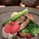 鶴のひとこえ - 温野菜の盛り合わせ 豆乳ソース(1,000円)
