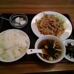 107562940 - 生姜焼き定食