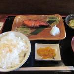107566948 - 「厚切り紅鮭」(800円)