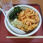 山田うどん - 料理写真:国産野菜と瀬戸内産海老のプレミアムかき揚げの冷そば¥520-