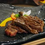 ひだまり庵 - ステーキコースのサーロインSサイズ(3500円)